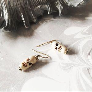 VANESSA MOONEY SKULL Dangle Earrings